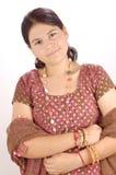 ινδικό πορτρέτο κοριτσιών Στοκ εικόνα με δικαίωμα ελεύθερης χρήσης