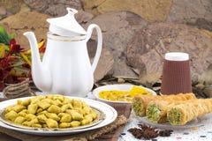 Ινδικό πρόχειρο φαγητό παραγράφου χρονικού πικάντικο Methi τσαγιού στοκ φωτογραφίες με δικαίωμα ελεύθερης χρήσης