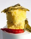 ινδικό πρόχειρο φαγητό dhokla Στοκ εικόνα με δικαίωμα ελεύθερης χρήσης
