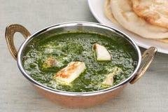 ινδικό σπανάκι palak κάρρυ φ τυρ&i στοκ φωτογραφίες με δικαίωμα ελεύθερης χρήσης