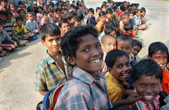 ινδικό σχολικό χωριό Στοκ Φωτογραφία
