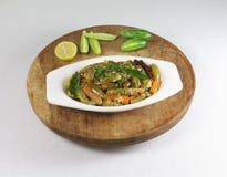 Ινδικό χορτοφάγο κάρρυ κολοκυθών Tindora ή κισσών σε ένα κύπελλο Στοκ Φωτογραφίες
