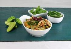 Ινδικό χορτοφάγο κάρρυ κολοκυθών Tindora ή κισσών Στοκ φωτογραφία με δικαίωμα ελεύθερης χρήσης