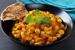 Ινδικό χορτοφάγο κάρρυ Chana Masala Στοκ Εικόνες