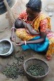 ινδικό χωριό ζωής Στοκ Φωτογραφία