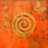 ινδικό ύφος έργου τέχνης Στοκ Εικόνα