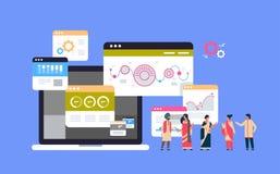 Ινδικό 'brainstorming' ομαδικής εργασίας έννοιας ανάλυσης στοιχείων διαγραμμάτων διαγραμμάτων γραφικών παραστάσεων επιχειρηματιών απεικόνιση αποθεμάτων