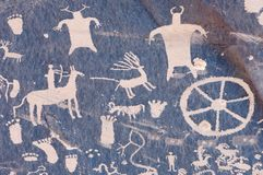 ινδικό petroglyph Στοκ εικόνα με δικαίωμα ελεύθερης χρήσης