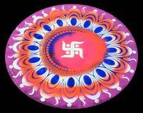ινδικό rangoli σχεδίου στοκ φωτογραφία