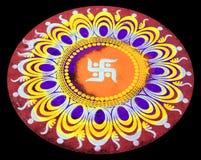ινδικό rangoli στοκ φωτογραφία