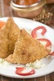 ινδικό samosa πατατών τροφίμων Στοκ εικόνες με δικαίωμα ελεύθερης χρήσης