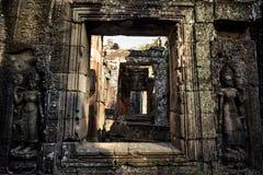 Ινδοί αριθμοί στο ναό TA prohm στο αρχαιολογικό πάρκο angkor Στοκ Εικόνα