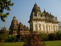 Ινδοί ναοί σε Kajuraho στοκ εικόνες