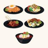 Ινδονησιακή κουζίνα Masakan Ινδονησία διανυσματική απεικόνιση