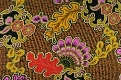Ινδονησιακό μπατίκ με το floral σχέδιο Στοκ Εικόνες