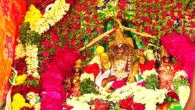 Ινδός Θεός Puja στο αυτοκίνητο φεστιβάλ απόθεμα βίντεο