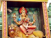 Ινδά άγαλμα και λιοντάρι Θεών Στοκ Εικόνα