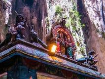 Ινδά αγάλματα στις σπηλιές Batu Στοκ φωτογραφίες με δικαίωμα ελεύθερης χρήσης