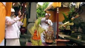Ινδές προσευχές του Μπαλί απόθεμα βίντεο