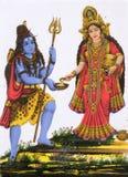 Ινδή θεά Shiva με Annapurna Στοκ εικόνα με δικαίωμα ελεύθερης χρήσης
