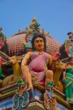 Ινδή θεότητα σε μια στέγη ναών Στοκ Εικόνες