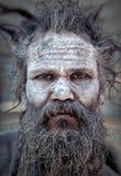 Ινδία, Allahabad, mela ` 13, Φεβρουάριος ` 08 μπαμπάς Kum Kumbha Naga ` 2013 στοκ εικόνες
