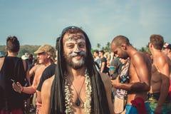 Ινδία, Goa - 2 Φεβρουαρίου 2016: Ετήσιο φρικτό καρναβάλι σε Arambol Στοκ Φωτογραφίες
