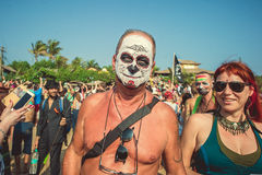 Ινδία, Goa - 21 Φεβρουαρίου 2017: Ετήσιο φρικτό καρναβάλι σε Arambol Στοκ φωτογραφίες με δικαίωμα ελεύθερης χρήσης