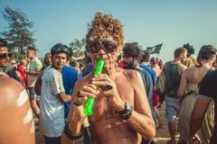 Ινδία, Goa - 21 Φεβρουαρίου 2017: Ετήσιο φρικτό καρναβάλι σε Arambol Στοκ εικόνες με δικαίωμα ελεύθερης χρήσης