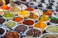 Ινδικά ζωηρόχρωμα καρυκεύματα Στοκ Εικόνες
