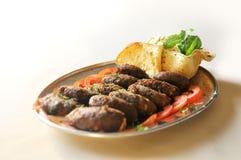 Ινδικά διακοσμημένα τρόφιμα cutlets και τηγανισμένος papd Στοκ Εικόνες