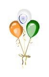 Ινδικά διανυσματικά μπαλόνια στοιχείων εθνικής εορτής Στοκ Εικόνα