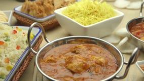 Ινδικά και κινεζικά τρόφιμα απόθεμα βίντεο