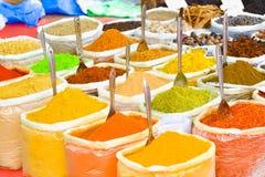 Ινδικά καρυκεύματα στην αγορά σε Anjuna Στοκ φωτογραφία με δικαίωμα ελεύθερης χρήσης