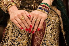 Ινδικά κοσμήματα νυφών Στοκ Φωτογραφία