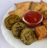 Ινδικά πρόχειρα φαγητά Στοκ Φωτογραφίες