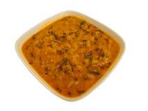 Ινδικά τρόφιμα - κίτρινη σούπα DAL ή φακών Στοκ Εικόνες
