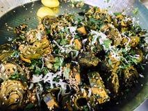 Ινδικά τρόφιμα Arbi KE Bajiye οδών Στοκ Φωτογραφία