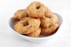 Ινδικά τρόφιμα Medu Vada Στοκ φωτογραφίες με δικαίωμα ελεύθερης χρήσης