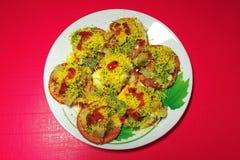 Ινδικά τρόφιμα Papri Chaat Στοκ Εικόνες