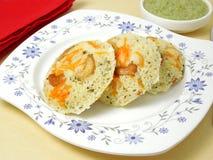 Ινδικά χορτοφάγα τρόφιμα Idli Rava στοκ εικόνα με δικαίωμα ελεύθερης χρήσης
