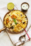 Ινδικά ψάρια και ρύζι ύφους Biryani ψαριών με το πικάντικο masala Στοκ Εικόνες