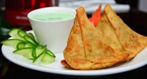 ινδικά samosas Στοκ Εικόνες
