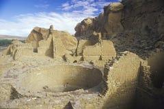 Ινδικές καταστροφές φαραγγιών Chaco, NM, circa 1060, το κέντρο του ινδικού πολιτισμού, NM Στοκ φωτογραφία με δικαίωμα ελεύθερης χρήσης