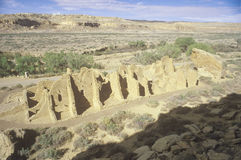 Ινδικές καταστροφές φαραγγιών Chaco, NM, circa 1060, το κέντρο του ινδικού πολιτισμού, NM Στοκ φωτογραφίες με δικαίωμα ελεύθερης χρήσης