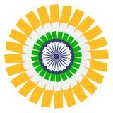 Ινδική έννοια σημαιών Διανυσματικό EPS8 Στοκ φωτογραφία με δικαίωμα ελεύθερης χρήσης