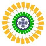 Ινδική έννοια σημαιών Διανυσματικό EPS8 Στοκ Εικόνες