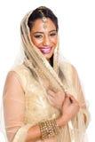 Ινδική γυναίκα Sari στοκ εικόνες