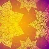Ινδική εκλεκτής ποιότητας διακόσμηση Διανυσματική απεικόνιση για την επιχειρησιακή παρουσίασή σας Στοκ Εικόνα