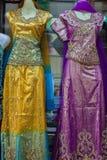 Ινδική λεπτομέρεια φορεμάτων ιματισμού Στοκ Εικόνες